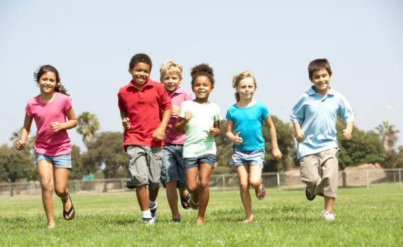 Children maximizing their exercise program
