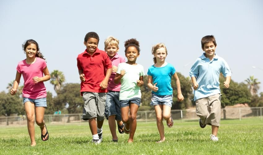Children maximizing their exercise program
