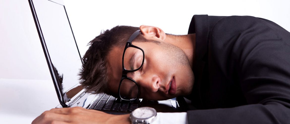 Fatigued man - power nap solution