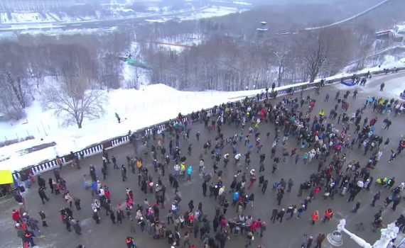 Flash mob in Moscow